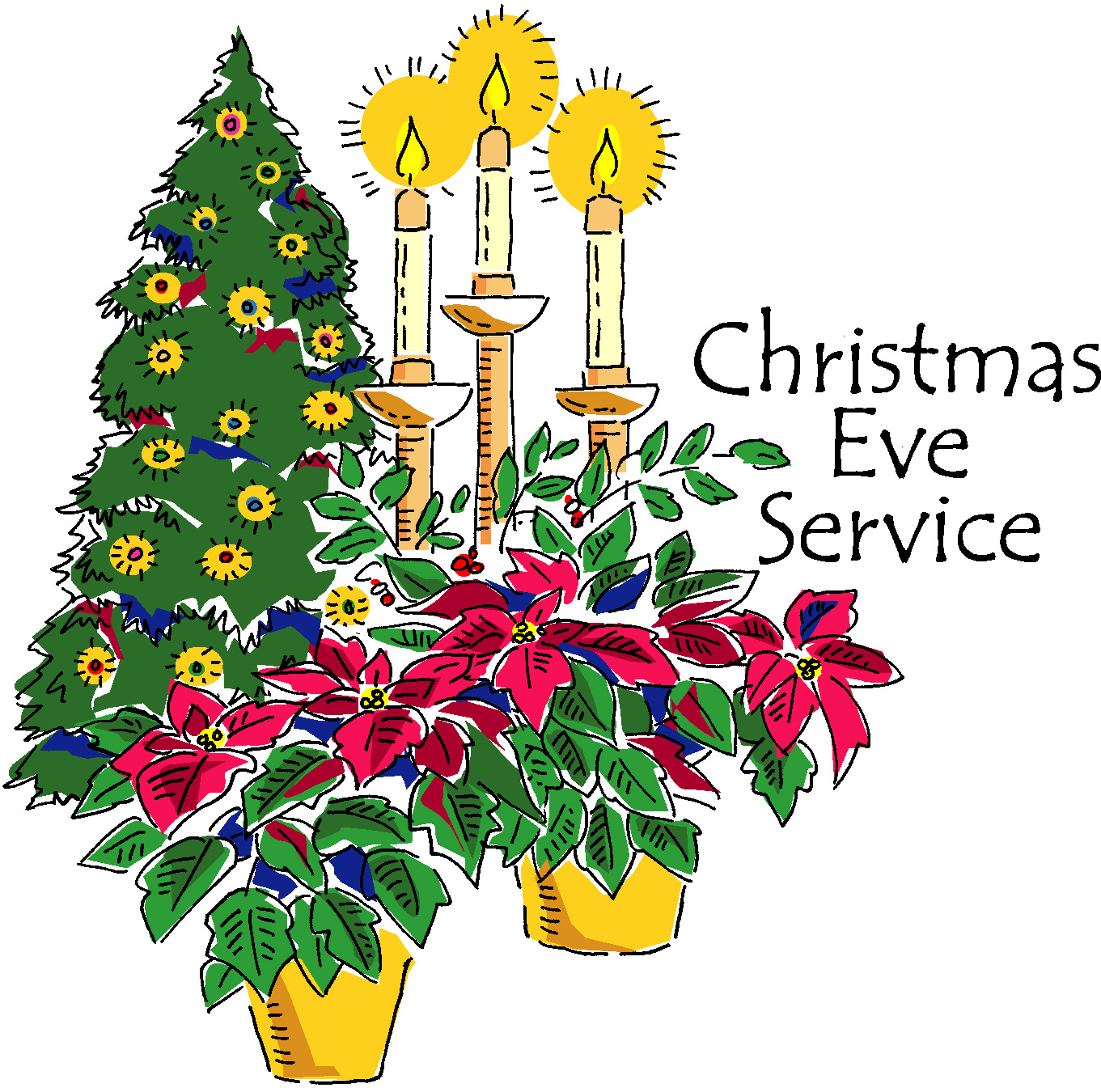christmas eve service clipart - photo #3